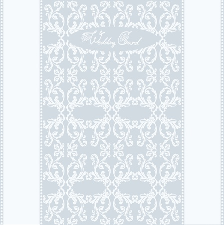 wedding post card background Vector