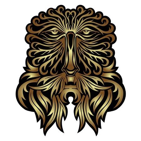 face forest spirit mask Stock Vector - 10324650