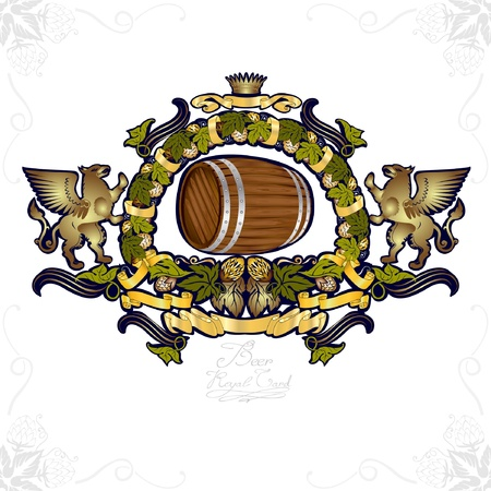 beer gold luxury background banner Stock Vector - 10324659