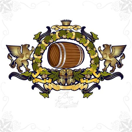 beer card: beer gold luxury background banner