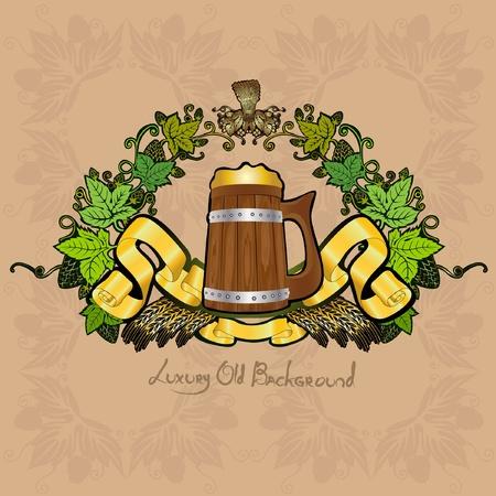 royal beer luxury background Vector