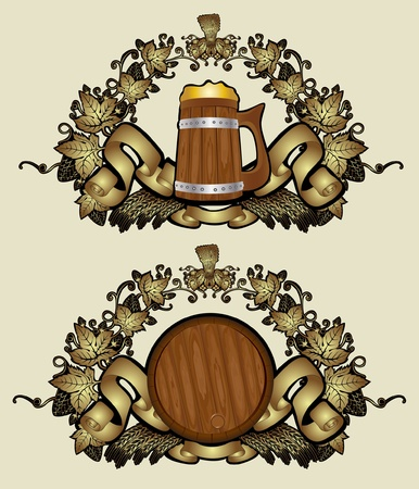 beer barrel: royal beer luxury gold background