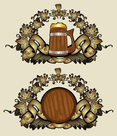 beer card: royal beer luxury gold background