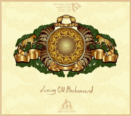 old heraldic background gold Stock Vector - 10491758