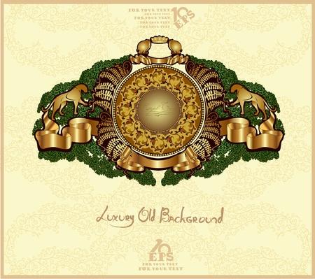 old heraldic background gold