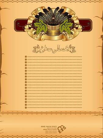beer card: beer hop menu background banner