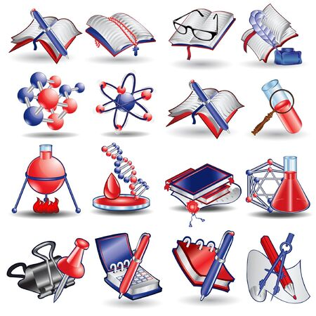 school stationary sciense icon Illusztráció