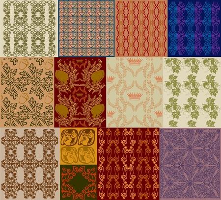royal old seamless texture set Vector