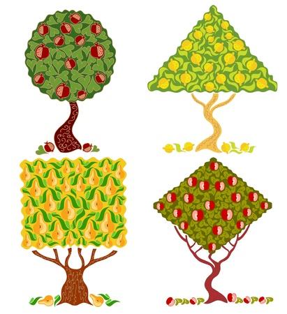 lemon grass: tree cartoon abstract
