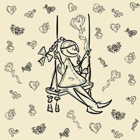 diminuto: h�roe de dibujos animados chica chico