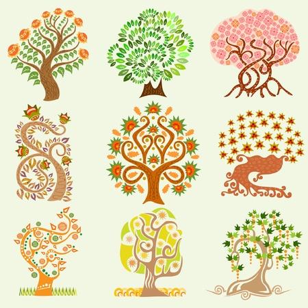 cartoon set albero