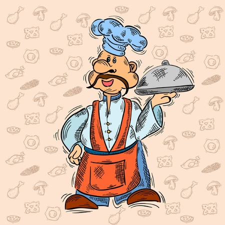 cook chief meal Vector