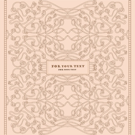 art nouveau background vintage Vector