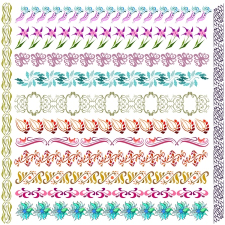 art nouveau pattern flower element Vector