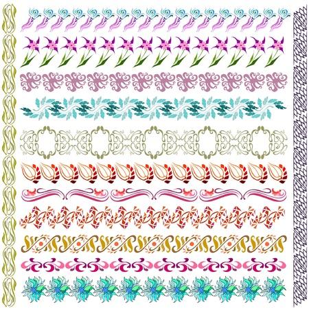 art nouveau pattern flower element Vector