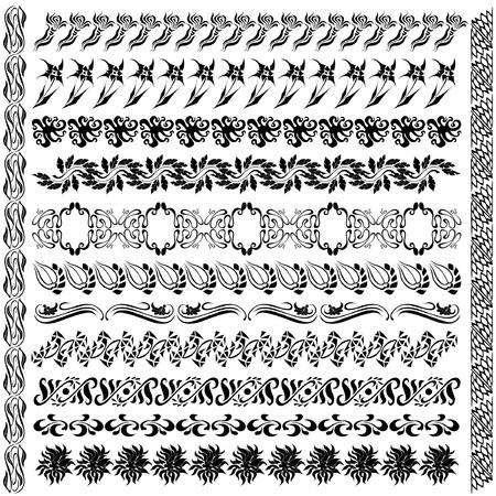 art nouveau pattern flower silhouette 版權商用圖片 - 12186011
