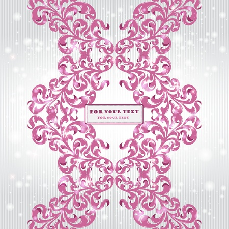 brand violet pattern background banner Stock Vector - 12491167