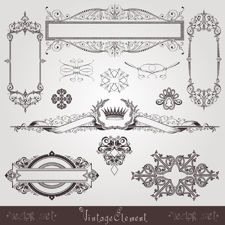 vintage set element Stock Vector - 12491283