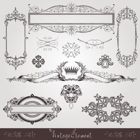 page decoration: vintage set element