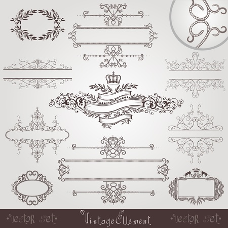 old royal vintage banner border frame Stock Vector - 12491291