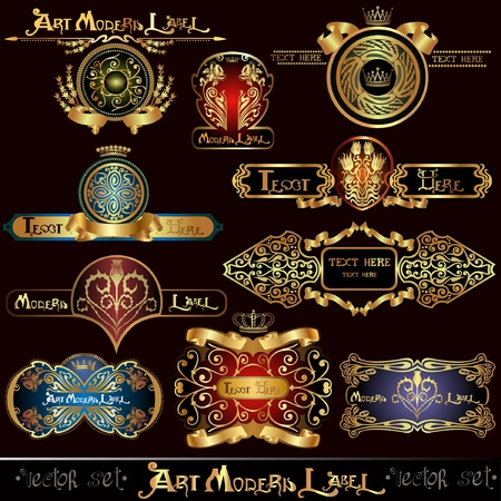 royal gold banner luxury label Vector