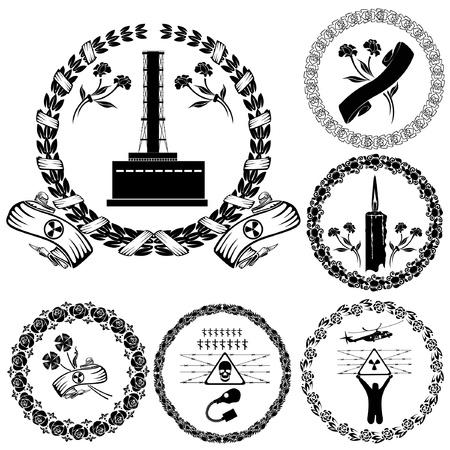 chernobyl: chernobyl label symbol silhouette