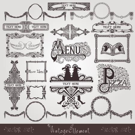 art royal label element silhouette Stock Vector - 12491543