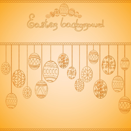 easter egg engraving background Vector