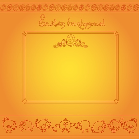 chiken: easter egg chicken engraving background