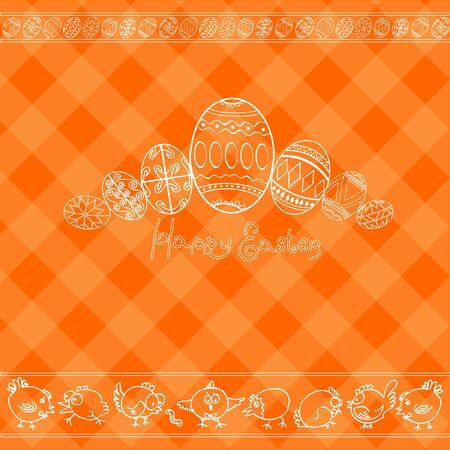 chiken: easter background egg banner Illustration