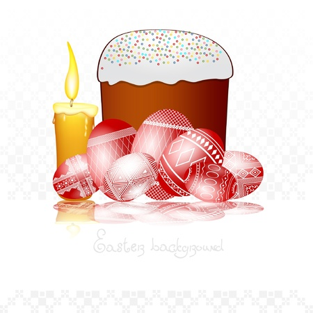 easter egg background cake Vector