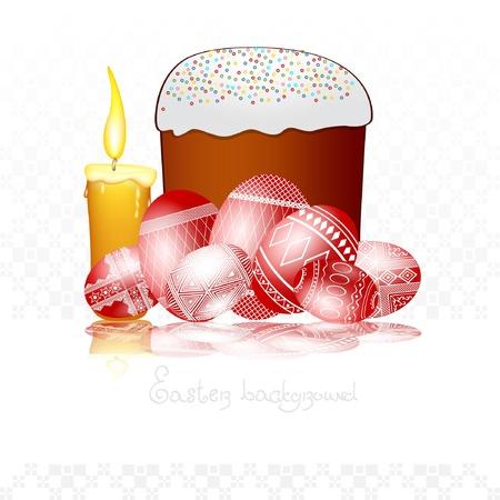 easter egg background cake Vector