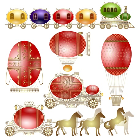 easter egg luxury transport Stock Vector - 12876618