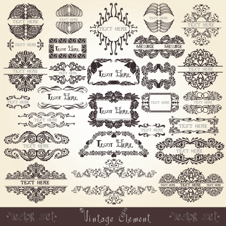 royal banner set label Stock Vector - 13611850