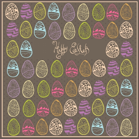 easter egg background banner Vector