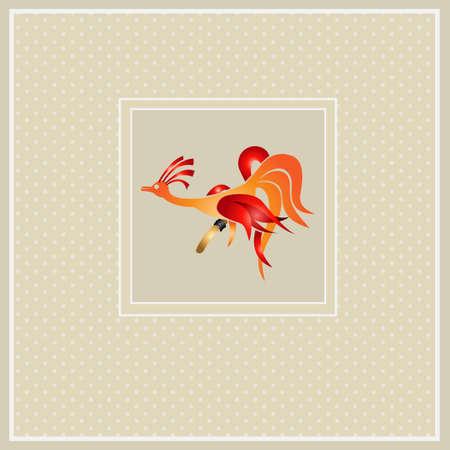 fire bird easter background