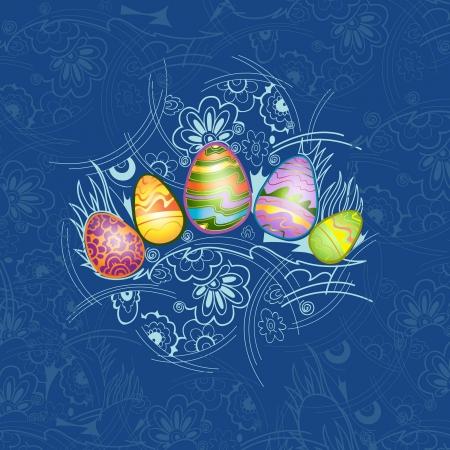wild rabbit: easter background egg color
