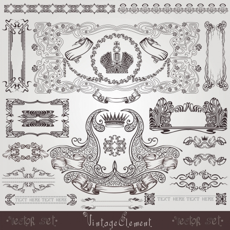 old royal label banner element Vector