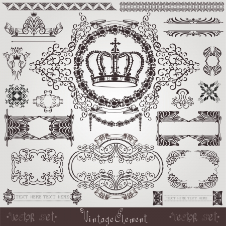 art nouveau royal label banner Vector