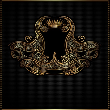 royal golden vintage background Vectores