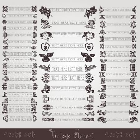 vintage label symbol element