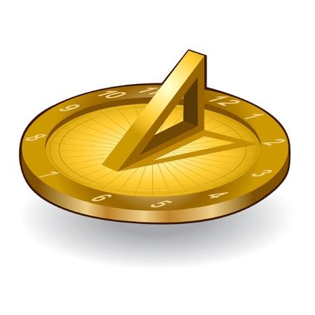 sonnenuhr: goldene Sonne Uhrsymbol