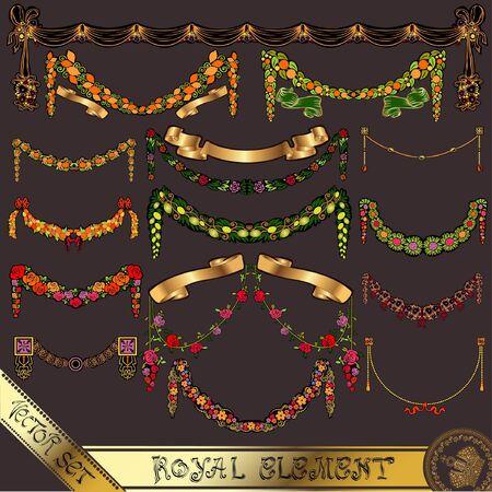rose: luxury gold element Illustration