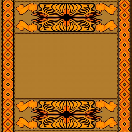 african background with pattern and symbol Vector