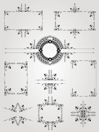 old engraving frame Vector