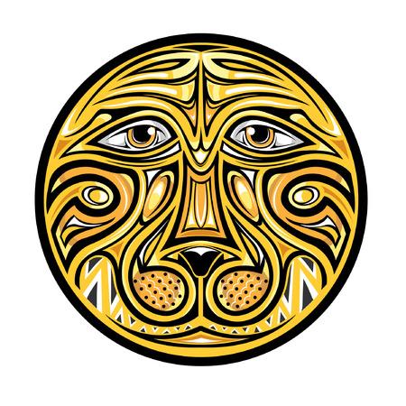afrika: abstract circle lion or tiger head