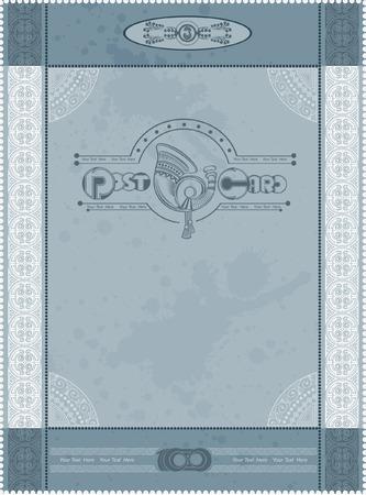 fondo vintage azul: tarjeta postal fondo azul de la vendimia