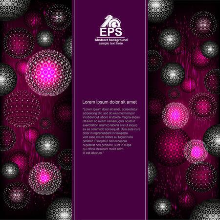 violet background: sfera astratta sfondo viola