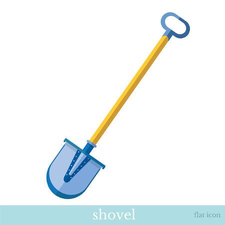 flat icon shovel tool object on white