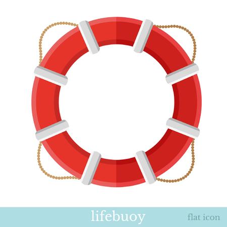 rescuing: flat icon lifebuoy object on white Illustration